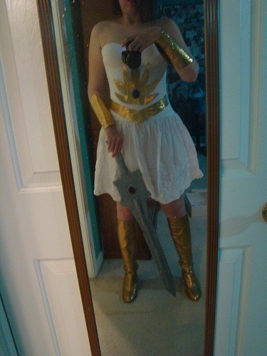 She-ra dress up... kicky gold boots were 9.99 on ebay, sword made out of duct tape too!