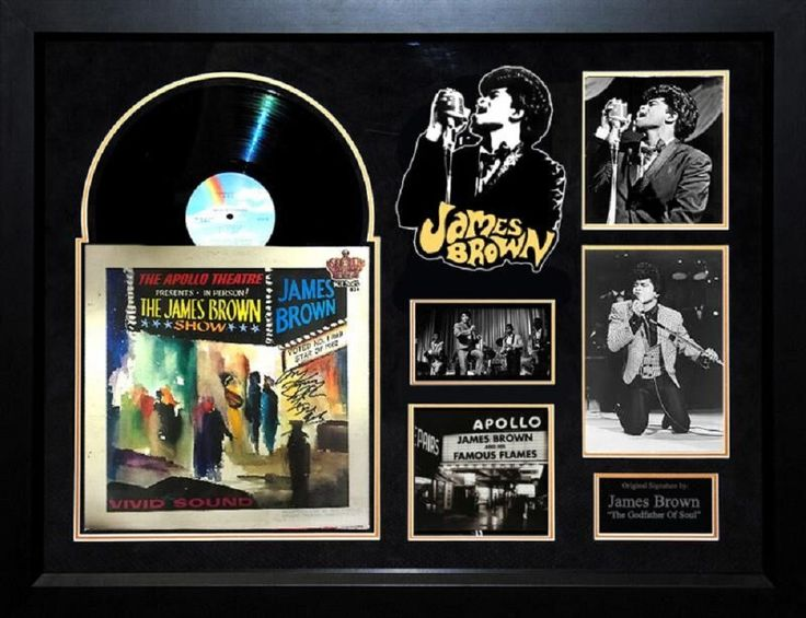 James Brown - Live at the Apollo - Signed Album LP Custom Framed