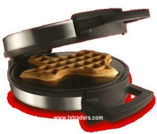 (Neat site for Texas items) Texas Waffle Maker- I got this for Christmas two years ago, it's SO cute