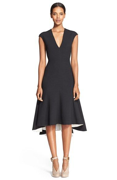 Stella McCartney Double Face Stretch Wool Fit & Flare Dress available at #Nordstrom