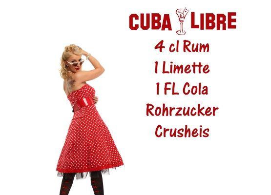 Wandtattoo Küche - Cocktail Rezept Cuba Libre