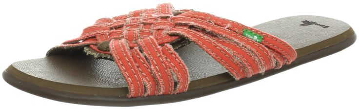 Sanuk Women's Siesta Slingback Sandal,Orange,6 M US.