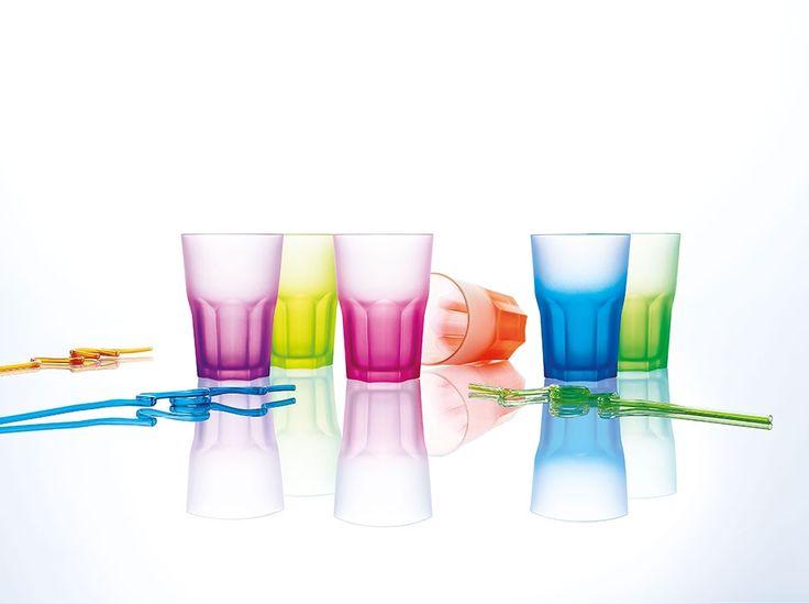 Komplet 6 szklanek America Techno Colors 300 ml LUMINARC
