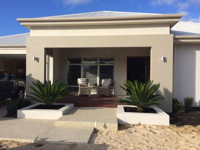 colours for exterior? Roof: surfmist Main render: solver white cliffs  Portico render: botany grey Windows : white lustre