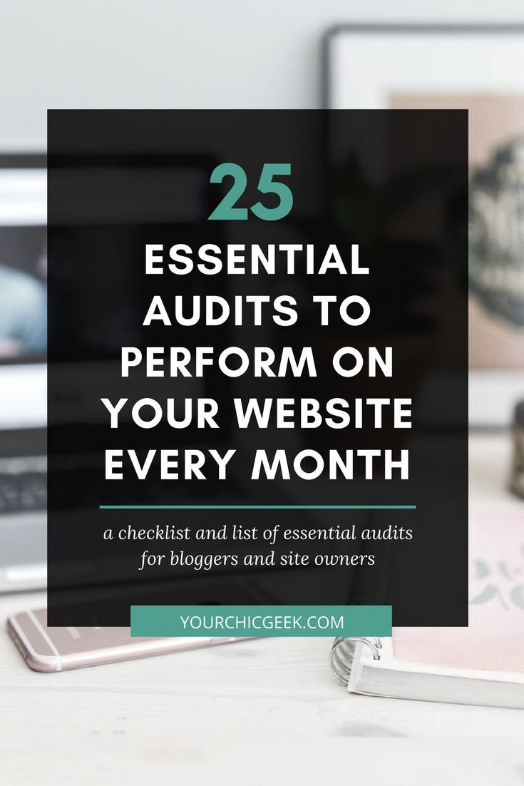 Looking for a website audit checklist to use for reviewing your website or blog? Check out this post for a list of 25 essential checks to perform.