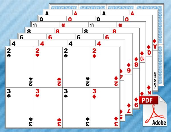Terrible image in deck of cards printable