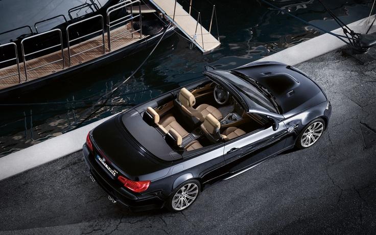 New BMW M3 Convertible overhead shot