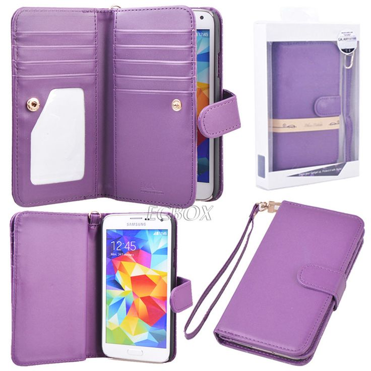 Premium PU Leather Flip Women Clutch Wallet Case Cover For Samsung Galaxy S Note