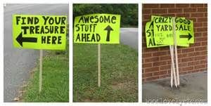 Catchy Garage Sale Signs Yard sale signs