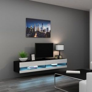 Wall Mounted Tv Cabinet With Glass Doors