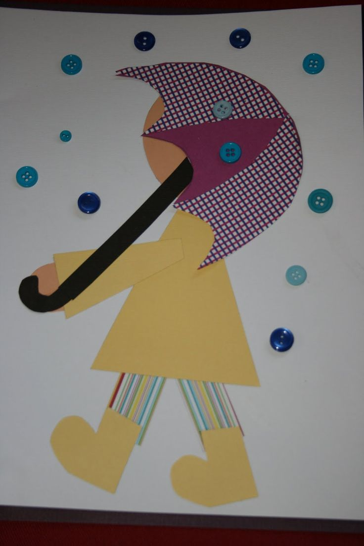Scrapbook paper art projects - Cute Spring Weather Art Project
