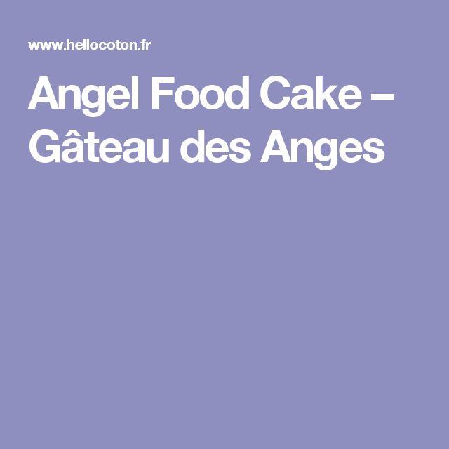 Gateau des anges valeur nutritive