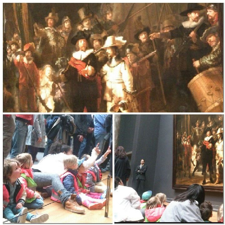 """En ook in het kader van kunstdonderdag #WVHJK15 gingen de oudste kinderen van locatie Beethoven op bezoek in het Rijksmuseum.  Behalve de Nachtwacht , werden ook de poppenhuizen en een scheepsmodel bekeken. Commentaar van de kinderen:  """"Kijk een prinses"""" (het meisje in het wit, in het poppenhuis) """"Zitten er echt piraten op het schip?"""" Met dank aan de ouder die met ons meeging! #reggio"""