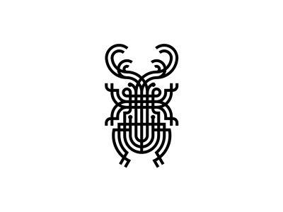Black bug neomodern graphic glva
