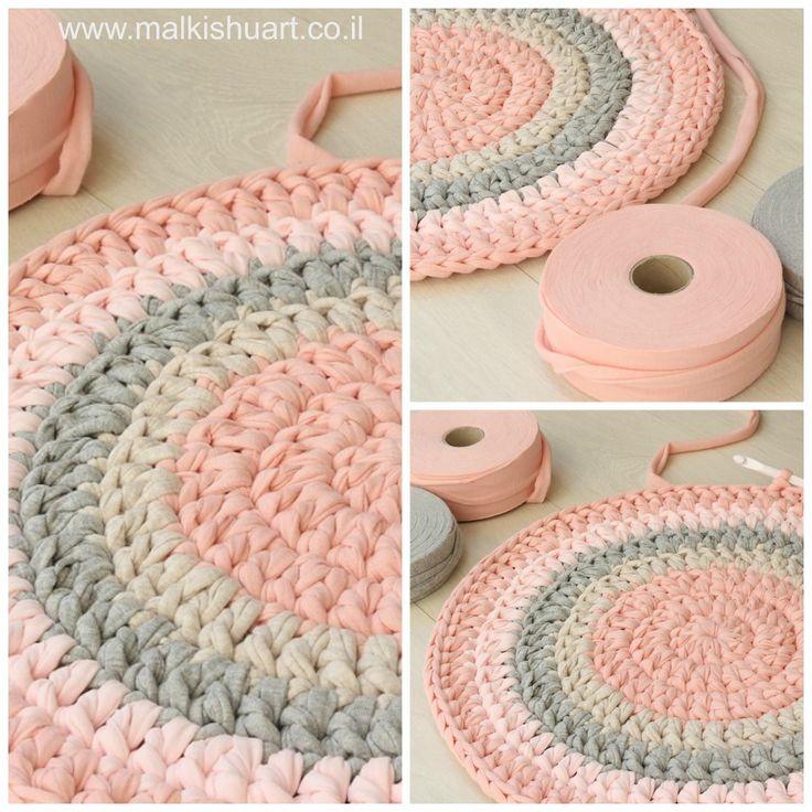 Crochet A Rag Rug Instructions: 78 Best Crochet Rug, Rag Rug, Round Rug, Free Patterns