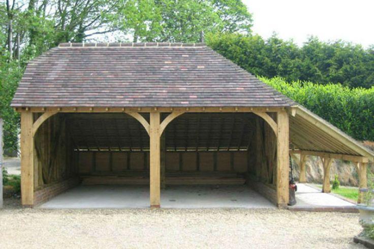 Houten Garage Bijgebouw Tuinhuis Wooden Garage Carport