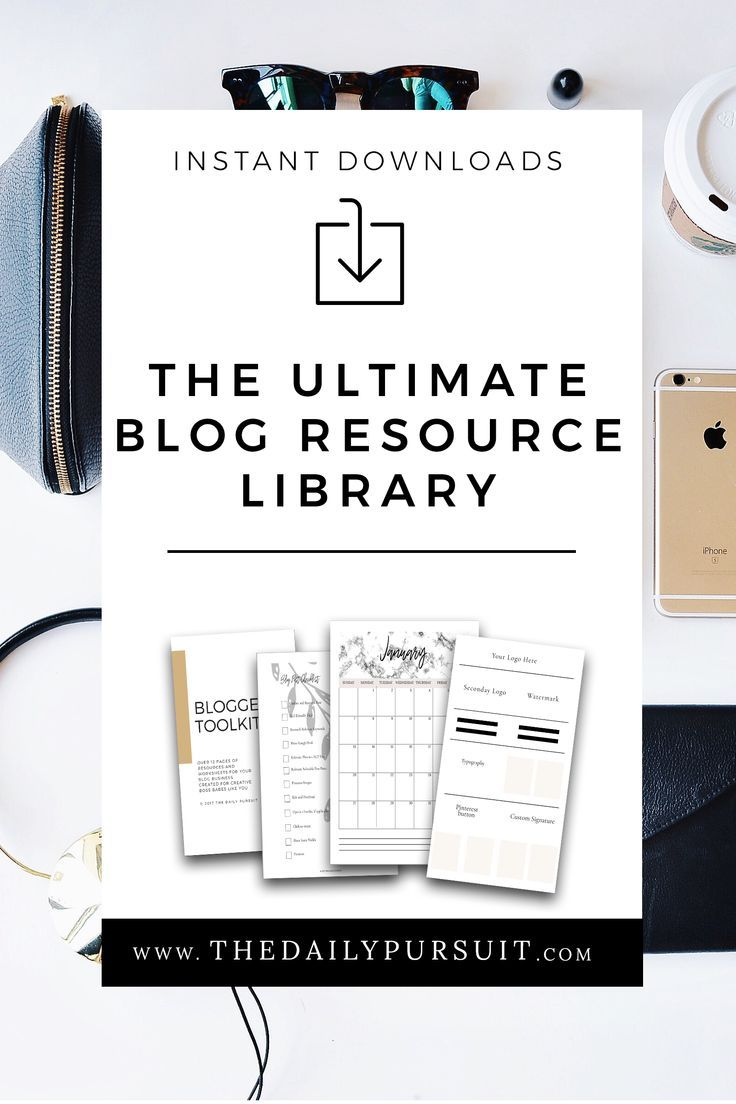 The Ultimate Free Resource library for Bloggers. Blogging Resources. Free downloads. Exclusive content library. thedailypursuit.com