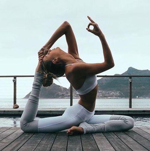 via Cork Yogis, yoga brain, mermaid pose