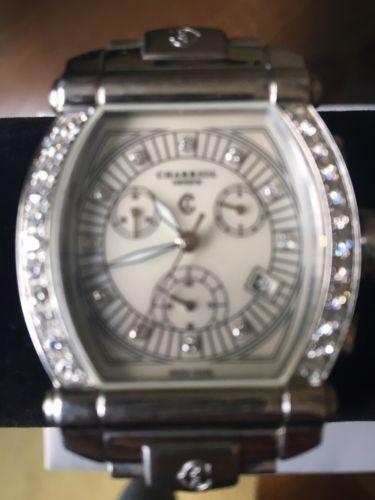 Philippe Charriol Ladies Columbus Diamond Bezel Chronograph Watch 060T2