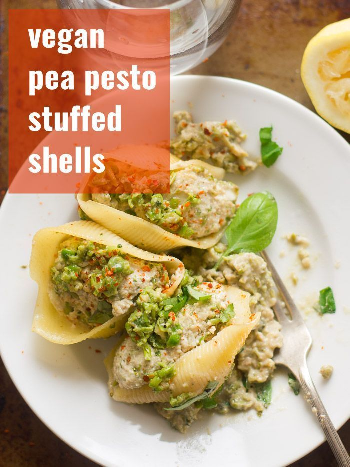 These Vegan Stuffed Shells Are Filled With A Mix Of Dairy Free Cashew Tofu Ricotta And Garlicky B With Images Vegan Pasta Recipes Vegan Dinner Recipes Vegan Stuffed Shells