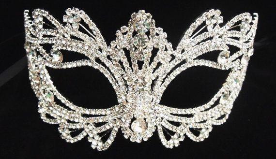 "Beste verkopen - Rhinestone crystal maskerade maskeren - bruiloft masker/goud/zwart masker - Halloween masker-taart topper-tabel 7 ""x 3 instellen. door CaSales"