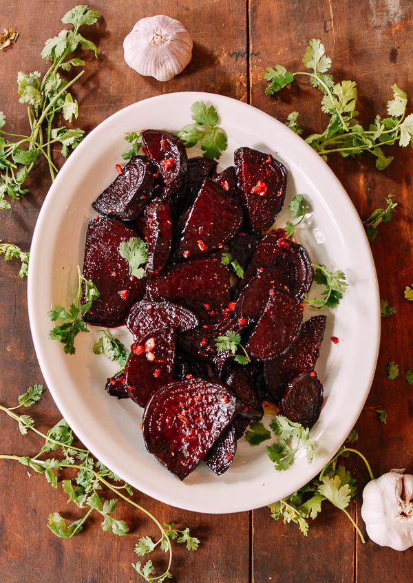 Marinated Roasted Beets An Easy Way To Use Beets The Woks Of Life Recipe Roasted Beets Recipes Beets