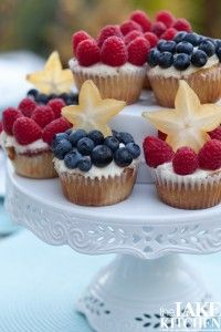 raspberry and blueberry cupcakes....