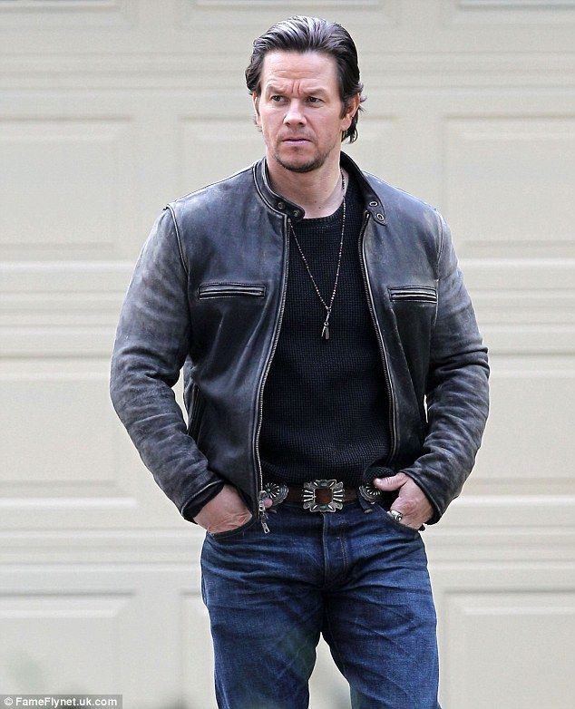 Stirring up trouble: Wahlberg - seen on set November 17 - plays the ex-husband and biological father to Will Ferrell's new wife and kids, respectively