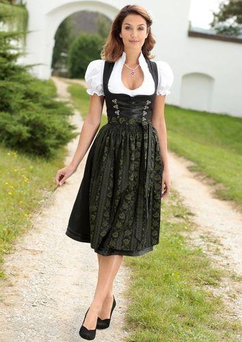 Dirndl mit Satinbandschnürung (3tlg.) | Stylaholic #dirndl #oktoberfest #wiesn #mode #fashion #style #bayern #münchen #tracht #stylaholic