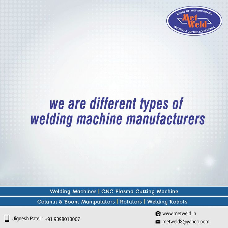We are Different Types of Welding Machine Manufacturers #DCWeldingRectifier #Co2MIGMAGMachine #SubmergedArcWelding #ElectrodesDryingOvens W:http://store.metweld.in/ M:+91-9998999589