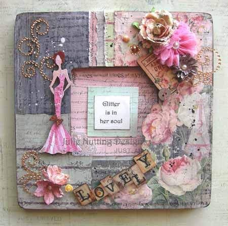 Altered Frame by Prima Educator, Julie Nutting using Tea Thyme collection