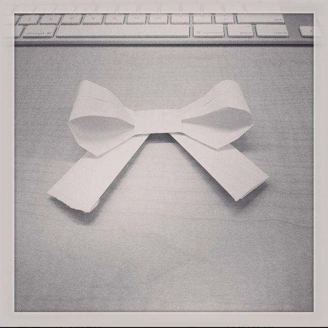DIY, Origami bow! <3