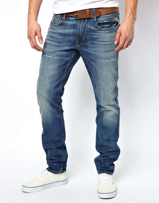 ASOS | Replay Jeans Anbass Slim Fit Mid Wash #asos #jeans
