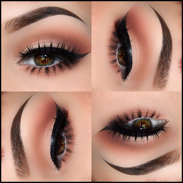 Soft brown eye look Foxy/WOS/Shell/Naked/maybelline nudes palette first shade in the bottom/cafe. Instagram hayleyawalker