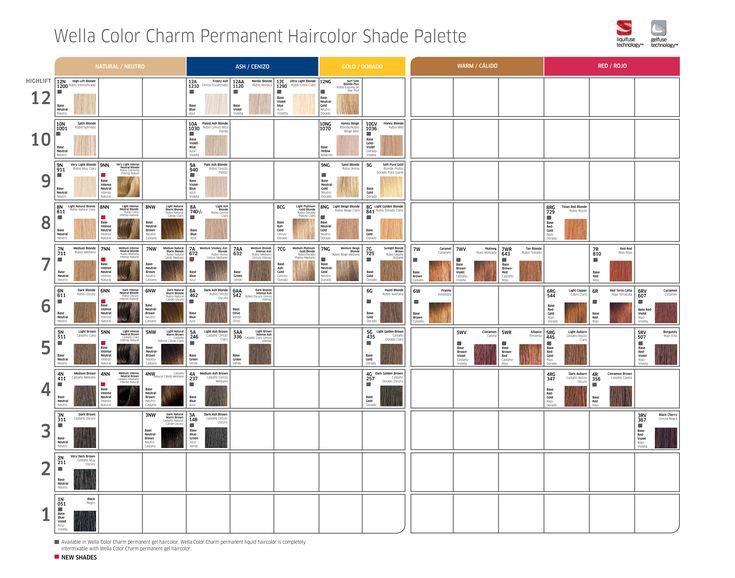 wella color charm permanent haircolor shade palette - Wella Color Charm