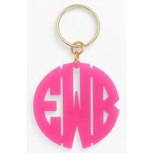 Women's Moon And Lola Personalized Monogram Key Chain