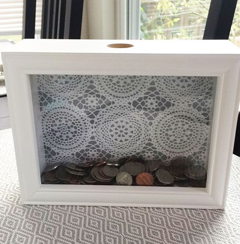 diy shadow box piggy bank