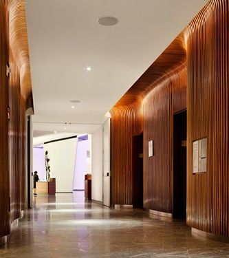 Conrad Hotel, New York by Kohn Pedersen Fox Associates and Monica Ponce de Leon #NewYork #hotel #interiordesign
