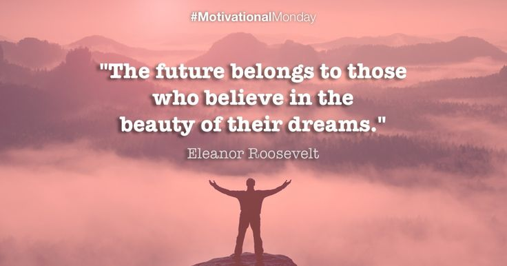 """""""The future belongs to those who believe in the beauty of their dreams!"""" #MotivationalMonday #ProAuction #Auctioneers #Hospitality #Catering"""