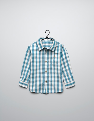gingham check shirt - Shirts - Baby boy (3-36 months) - Kids - ZARA United States