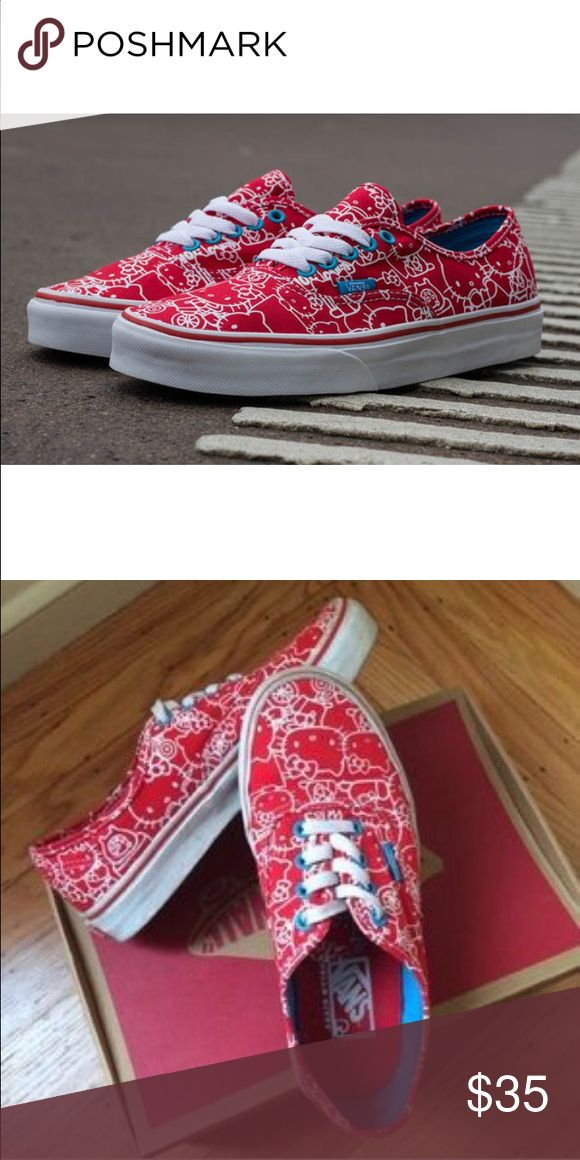 Hello Kitty Vans Size 5.5 Y , 7 Women's Only worn three times. No wear on the bottom Vans Shoes Sneakers