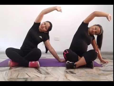 estiramiento reducir dolor de espalda en el embarazo - YouTube