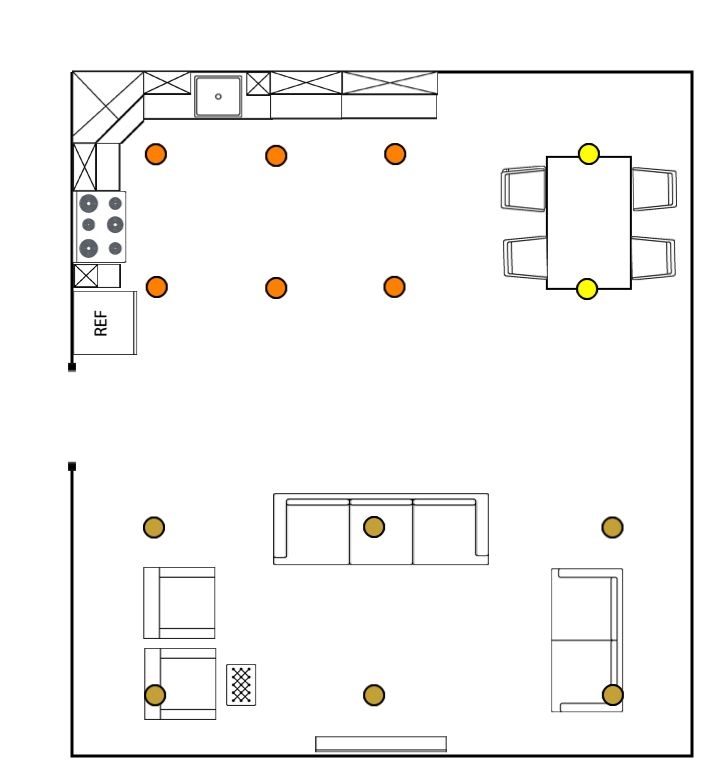 Lighting layout of a house