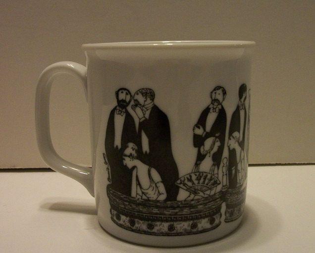 "Vintage Edward Gorey ""A Night at the Opera"" Coffee Mug- 1990's PBS Mystery Mug(?) by TimsTimelessToys on Etsy"