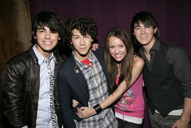 Pin for Later: Look Back at All the Jonas Brothers' Past Loves Nick Jonas and Miley Cyrus