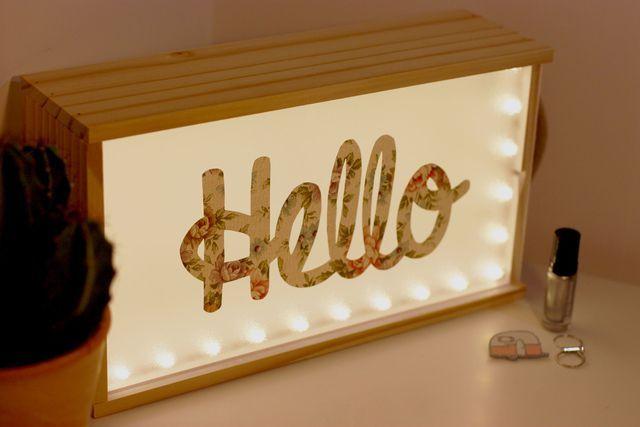 DIY déco : une lightbox pour faire passer des messages.