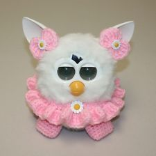Crochet Outfit/Clothes/Accessories for Furby & Furby Boom - Pink Daisy Girl