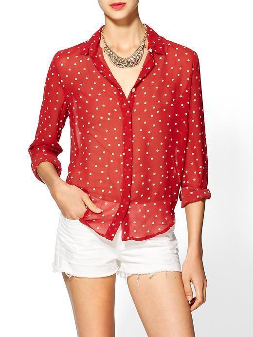 blusas rojas con lunares moda 2015 - Buscar con Google