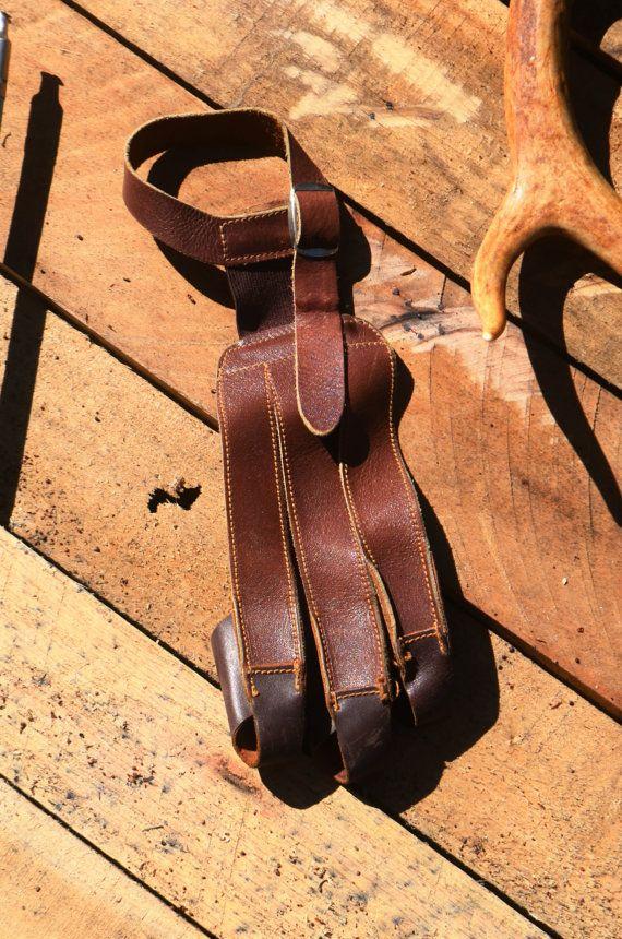Tiro con arco tiro el guante guante de cuero de por PodunkHollow