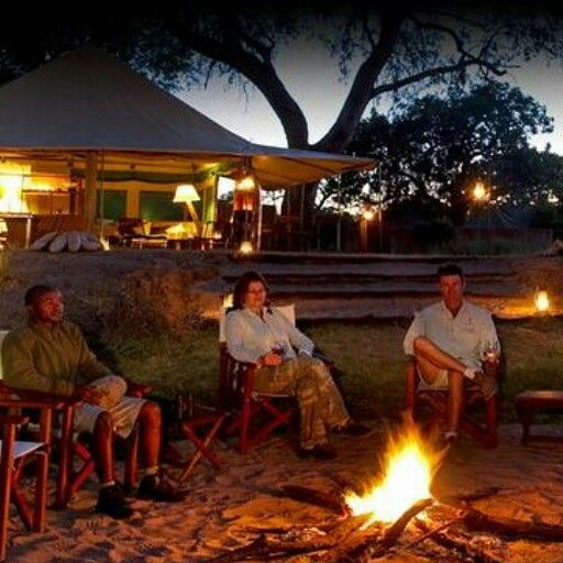 Gater after long day of safaris at the Boma and share your experiences